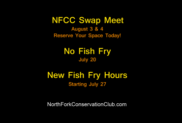 North Fork Conservation Club Announcements